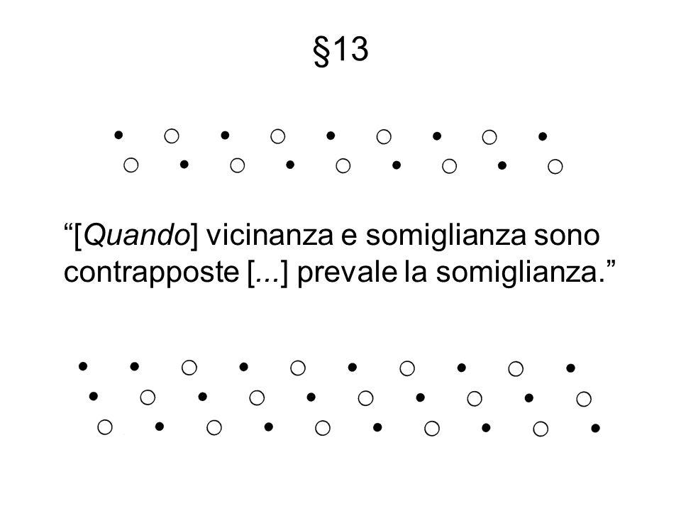 §13 [Quando] vicinanza e somiglianza sono contrapposte [...] prevale la somiglianza.